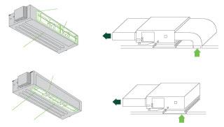 Варианты рециркуляции воздуха канального кондиционера